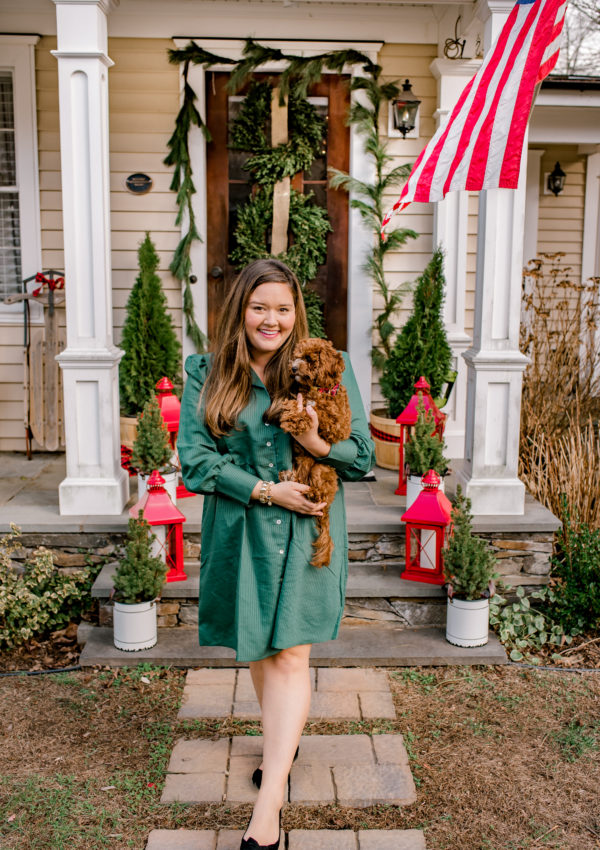 Holiday Front Porch Decor at our Historic  Modern Farmhouse in New England